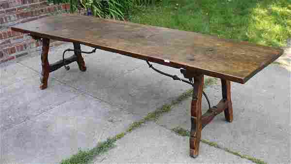 Excellent massive spanish solid walnut 18th- early 19th