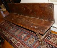 Solid plank Walnut 18th -early 19th century bench. 74