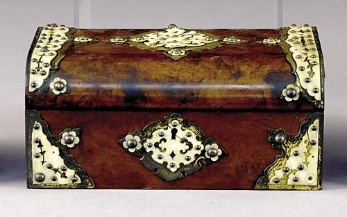13: English brass and ivory bound gentleman's box circa