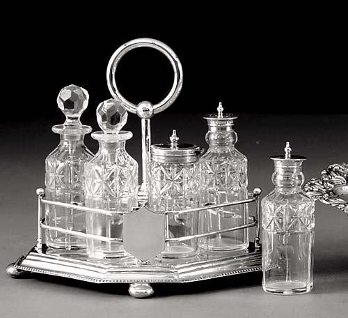 21: American silverplate cruet set late 19th century