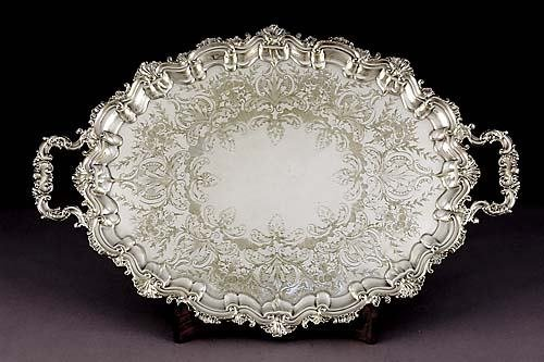 24: American silverplate serving tray