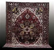 264 Persian geometric Heriz carpet