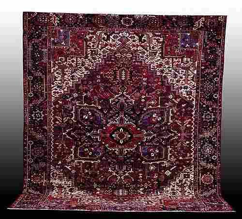 326: Antique Persian Heriz carpet circa 1925