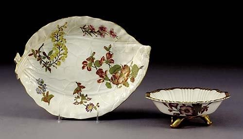 511: Two Royal Worcester serving pieces circa 1888