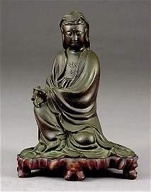 687: Chinese bronze Quan Yin late 19th century