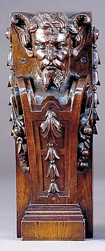 1: Continental carved wood corbel