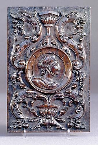 3: Continental carved oak wall plaque