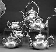 Victorian silverplate tea and coffee service