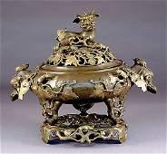 395: Chinese bronze censer