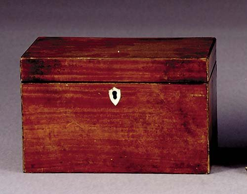 503: Regency mahogany tea caddy