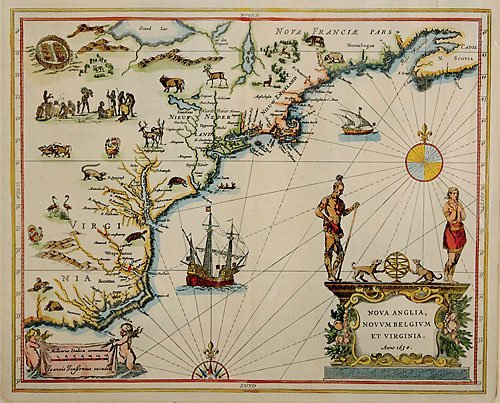 523: Map of America by Joannis Janssonius
