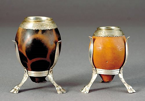 1006: Two Continental silver-mounted coconut vessels