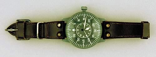 1045: German WWII Laco Lacher & Co aviator watch