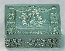 1281: American chased sterling trinket box