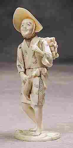 001: Japanese carved ivory okimono 20th century