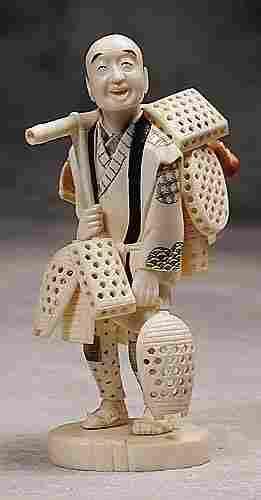 002: Japanese carved ivory okimono 20th century