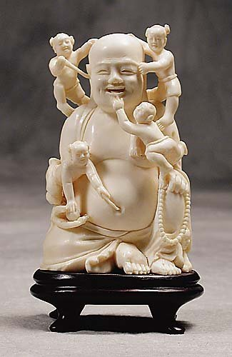 003: Japanese carved ivory immortal  20th century
