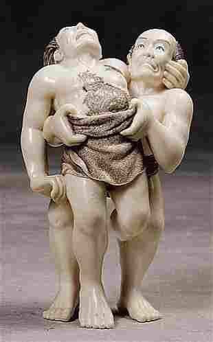 006: Japanese carved ivory okimono 20th century