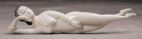 007: Japanese carved ivory doctor's lady  20th century