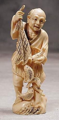 009: Japanese carved ivory okimono 20th century