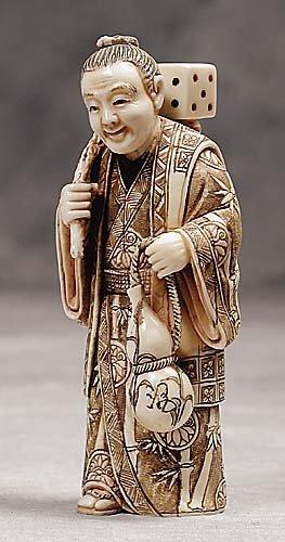 012: Japanese carved ivory okimono  20th century