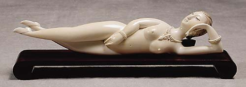 016: Japanese carved ivory doctor's lady  20th century