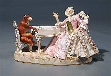 219: Meissen porcelain figural group  late 19th century