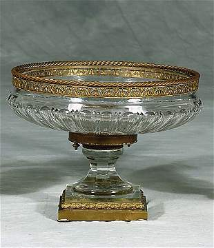 French bronze-mounted crystal centerpiece circa 1