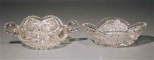 Two American cut-crystal dishes circa 1900