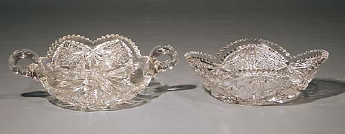 448: Two American cut-crystal dishes  circa 1900