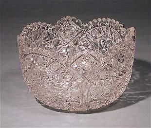 Fancy American cut-crystal center bowl circa 1900