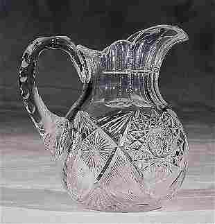 American cut-crystal beverage pitcher