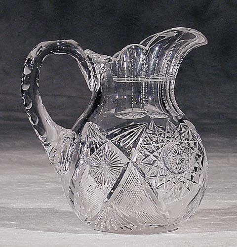 450: American cut-crystal beverage pitcher