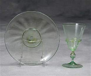 Murano glass stems and plates 19th/20th century
