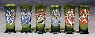 German glasses, set of six early 20th century