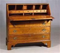 600: American cherry slant-front desk circa 1800