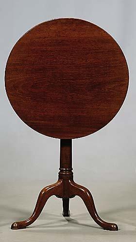 686: English mahogany tilt-top tripod table  first half