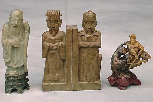 6: Oriental soapstone carvings
