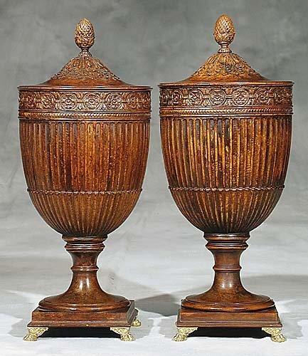 19: Pair Adam style walnut wine coolers
