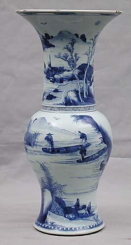 357: Chinese blue-and-white vase
