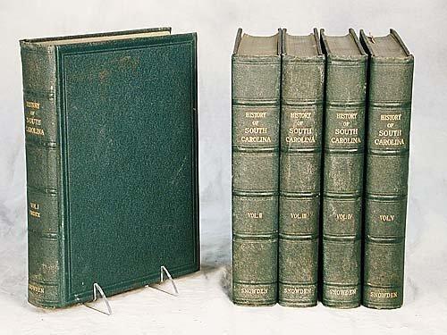 408: 5 vols. books: History of South Carolina