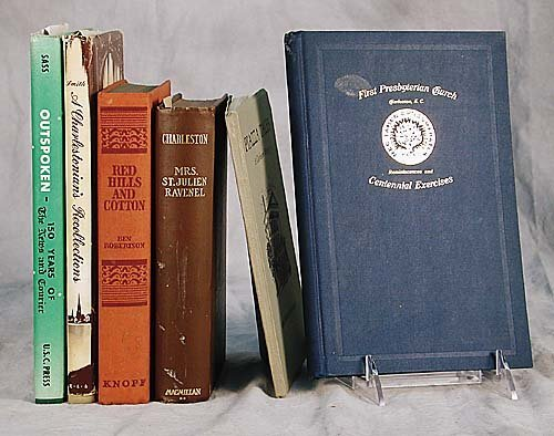 409: 6 vols. books: Charleston related