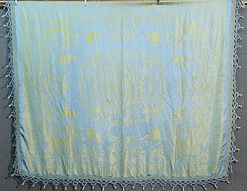 418: Silk damask coverlet