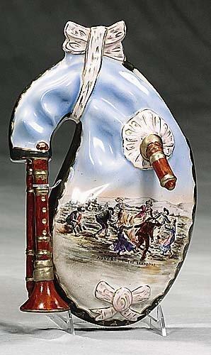 422: Rare Limoges porcelain wall pocket