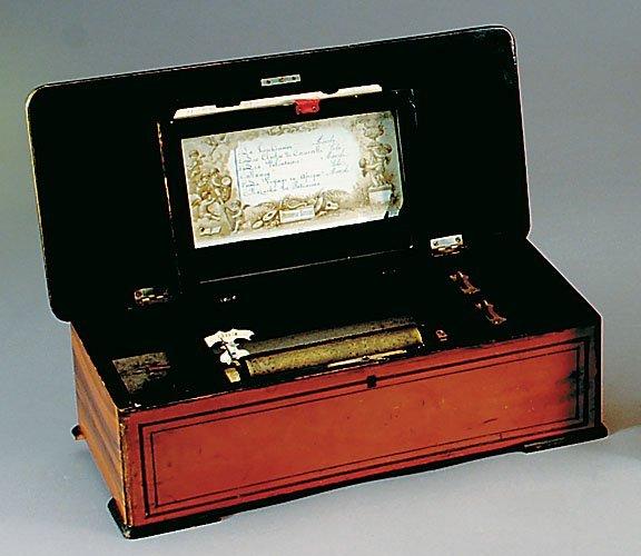 17: Swiss cylinder music box