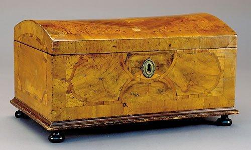 20: Continental inlaid walnut miniature chest