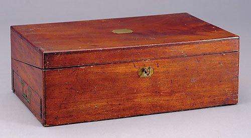 25: English mahogany lap desk