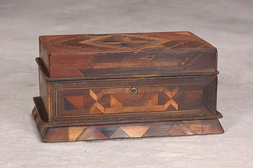 27: Mixed wood parquetry trinket box