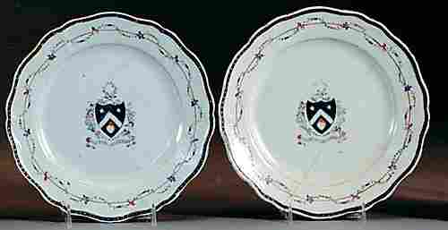 357: Pair Chinese Export porcelain plates