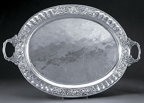 500: Mexican sterling serving tray